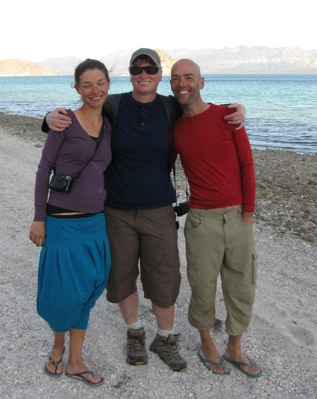 with marta and raul in baja
